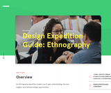 Design Expedition Guide: Ethnography