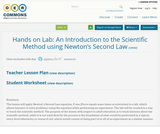 Hands on Lab: An Introduction to the Scientific Method using Newton's Second Law