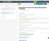 Management and the Four Basic Management Functions