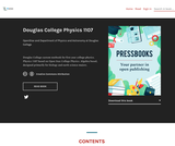 Douglas College Physics 1107