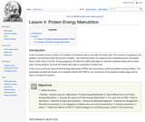 Lesson 4: Protein Energy Malnutrition