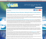 Equity in Elementary Science Education: Meeting the Needs of Gifted Students