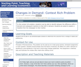 Context Rich Problem: Changes in Demand