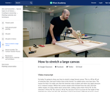 How to stretch a large canvas