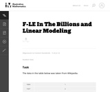 In the Billions and Linear Modeling