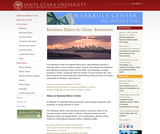 Business Ethics in China: Resources