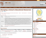 Managing a School's Educational Resources