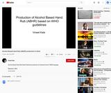 Alcohol Based Hand Rub (ABHR) production in Hindi