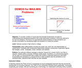 DEMOS for OPTIMIZATION Problems