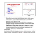 DEMOS for OPTIMIZATION Problems