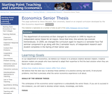 Economics Senior Thesis