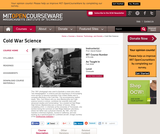 Cold War Science, Fall 2008
