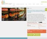 Multi-level Policy Implementation of the Emergency Food Assistance Program (TEFAP)