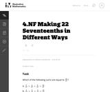 Making 22 Seventeenths in Different Ways