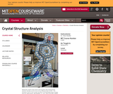Crystal Structure Analysis, Spring 2010