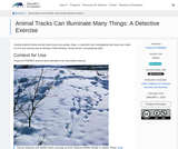 Animal Tracks Can Illuminate Many Things: A Detective Exercise