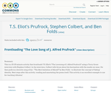 T.S. Eliot's Prufrock, Stephen Colbert, and Ben Folds