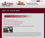 Reading Like a Historian, Unit 12: Cold War Culture/Civil Rights