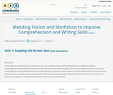Blending Fiction and Nonfiction to Improve Comprehension and Writing Skills