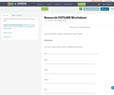 Research OUTLINE Worksheet