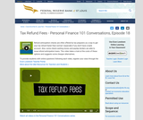 Tax Refund Fees - Personal Finance 101 Conversations, Episode 18