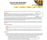 You're the Scientist: Verifying Data Collected by Peers