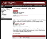 Design Fabrication, Spring 2003