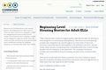 Beginning Level Housing Stories for Adult ELLs