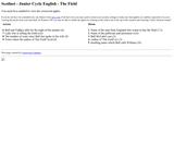 The Field - Crossword