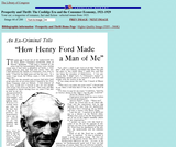 """How Henry Ford Made a Man of Me"""