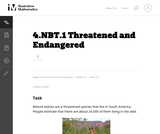 4.NBT.1 Threatened and Endangered