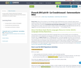 French 201 Lab 10 - Le Conditionnel - Intermediate Mid
