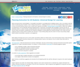 Planning Instruction for All Students: Universal Design for Learning