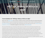 History of Africa to 1890