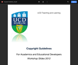 Developing e-learning resources: Copyright Guidelines