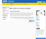 Math 1A/1B: Pre-Calculus