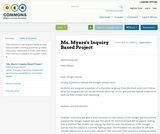 Ms. Myars's Inquiry Based Project