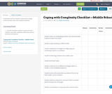 Coping with Complexity Checklist —Middle School