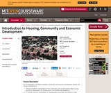 Introduction to Housing, Community and Economic Development, Fall 2003