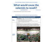 Road to Revolution: What could cause the colonists to revolt?