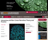 Interactive and Non-Linear Narrative: Theory and Practice, Spring 2006