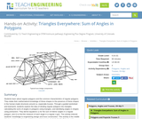 Triangles Everywhere: Sum of Angles in Polygons