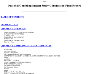 National gambling impact study banning casino