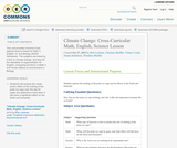 Climate Change: Cross-Curricular Math, English, Science Lesson