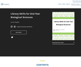 Library Skills for 2nd Year Biological Sciences