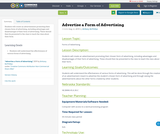Advertise a Form of Advertising