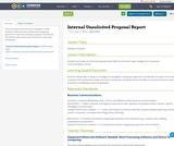 Internal Unsolicited Proposal Report