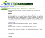 Chromatography: Who Wrote the Note?