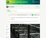 Center for Sustainability at Penn State University: Energy System