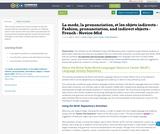 La mode, la prononciation, et les objets indirects - Fashion, pronunciation, and indirect objects - French - Novice-Mid